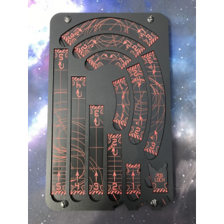 Space Template red/black with tray (für 2.0 X-Wing geeignet)