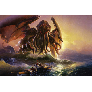 Cthulhu and the Ninth Wave BG (160 x 85 cm)