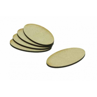 MDF Base Oval 60x35mm (20)