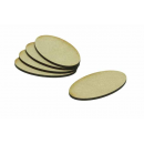 MDF Base Oval 75x42mm (15)